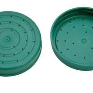Plastic cap with holes to feeding