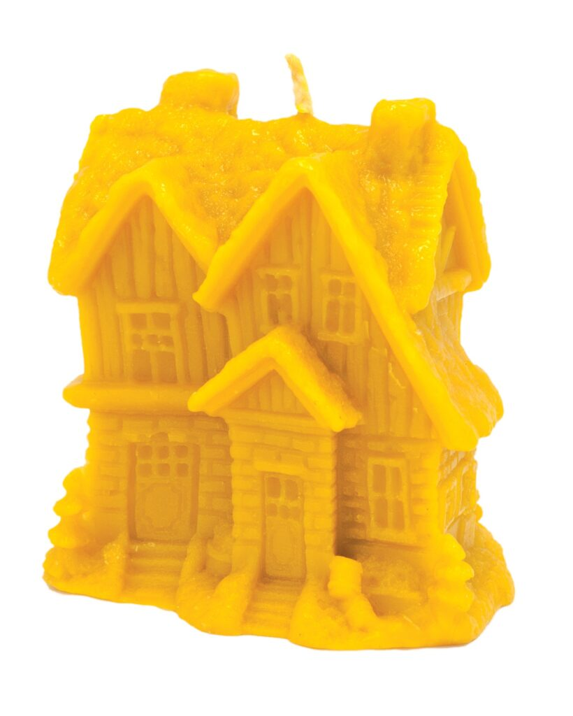Silicon mould – Winter house with Christmas trees